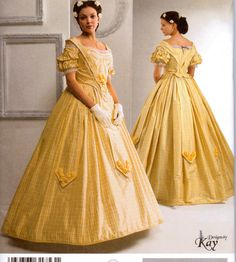 Sewing Pattern Simplicity 2881 Misses'  Civil War Gown Costume Pick your size  Uncut Complete op Etsy, 5,66 €