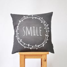 "NEW! Modern Kids Pillows, Monochrome Nursery Pillow, Decorative Pillow, Throw Pillow, Cushion Cover, Chalkboard Pillow 16"" x 16"""