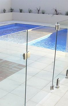 Frameless Glass pool gate. AQUAVIEW GLASS POOL & PATIO FENCING, BEVERLY HILLS