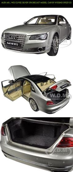 AUDI A8 L W12 CUVEE SILVER 1/18 DIECAST MODEL CAR BY KYOSHO 09231 CS