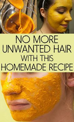 Try this home made amazing recipe to remove unwanted facial hair instantly #UnderarmHairRemoval