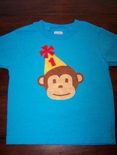 monkey party hat shirt