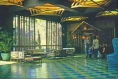 Polynesian Resort lobby 1971
