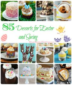 85 Desserts for Easter & Spring | cupcakesandkalechips.com | #roundup #contributor