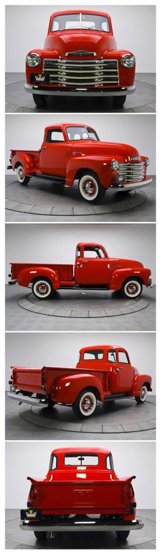 1949 Chevy 3100 Pickup....Buy this for me and I'll paint my front door red to match! Love it!