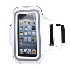 Safstar Running Jogging Sports GYM Armband Case Cover Holder for iPhone 5 5S 5C (White). Perfect fit for: Apple iphone 5 5S 5s. Material: Lightweight soft neoprene that is molded to twist and bend but will not stretch out of shape. Water Resistant and sweat-proof function to better protect your mobile phone, make you feel more comfortable during exercise. Functionality: Adjustable stretchy Velcro armband protects and stabilizes cellphone without slipping or constricting,enjoy your...