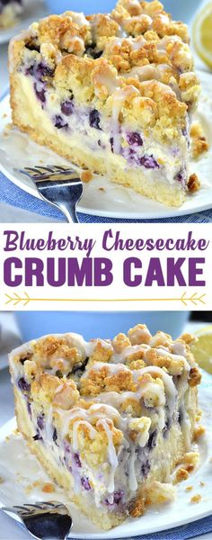 Cheesecake Crumb Cake is delicious combo of two mouthwatering desserts. Blueberry Cheesecake Crumb Cake is delicious combo of two mouthwatering desserts.Blueberry Cheesecake Crumb Cake is delicious combo of two mouthwatering desserts. Brownie Desserts, Köstliche Desserts, Healthy Dessert Recipes, Baking Recipes, Cheesecake Desserts, Amazing Dessert Recipes, Easy Delicious Desserts, Amazing Deserts, Fast And Easy Desserts