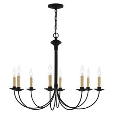 Livex Lighting, Chandelier Lighting, Mediterranean Lighting, Black Chandelier, Candelabra Bulbs, Clean Design, Glow, Ceiling Lights, Steel