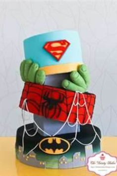 Superhero Cake, birthday cake for me? You Are My Superhero, Superhero Cake, Fancy Cakes, Cute Cakes, Beautiful Cakes, Amazing Cakes, Super Torte, Cakes For Boys, Love Cake