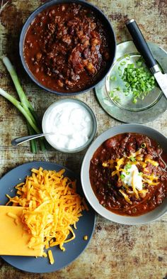 Texas Style Chili with Slow Cooked Brisket