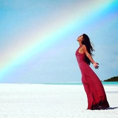 Rainbows and sunshine with badass freediver Tomoka Fukuda. Photo by Lia Barrett for Prawno Apparel.