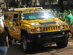 Pittsburgh Steeler's Hummer in the St. Patrick's parade 2012  picture by: Bridgett Lynch