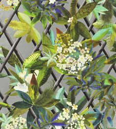 Canopy - Argent wallpaper, from the Nouveaux Mondes collection by Christian…