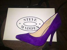 Steve Madden Womens Purple Pumps
