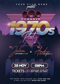 Download the Free Retro Style Party Flyer PSD Template! - Free Club Flyer, Free Flyer Templates, Free Party Flyer - #FreeClubFlyer, #FreeFlyerTemplates, #FreePartyFlyer - #Club, #Music, #Night, #Nightclub, #Party, #Retro, #Throwback