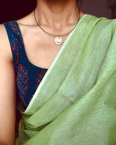 #Pastelsarewise . . . . Plain Mangalagiri with Ajrak Blouse || 8pm IST today || No Pre-Orders . . . . Accessory