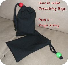 Crafting for Shoeboxes: How to make Drawstring Bags - Part 1