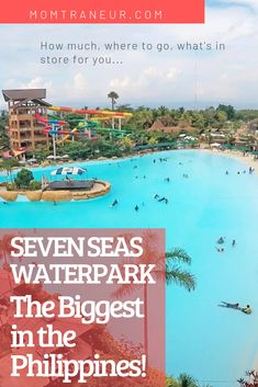 Seven Seas Waterpark – The Biggest in the Philippines – A Vlog! Night Swimming, 17th Birthday, Enjoy Summer, Time Of The Year, Seas, Where To Go, Philippines, Disneyland, Scenery