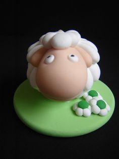 Top cake white sheep by pateettics.deviantart.com on @deviantART