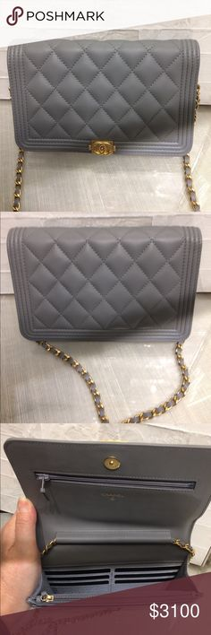 Authentic Chanel grey boy WOC Authentic Chanel grey boy WOC CHANEL Bags  Crossbody Bags efb578ca987d5