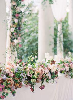 Garden of Eden Hycroft Manor wedding designed by Myrtle et Olive, captured by Jen Huang Photography Olive Wedding, Floral Wedding, Wedding Flowers, Rose Wedding, Spring Wedding, Elegant Wedding, Luxury Wedding Decor, Wedding Table, Arch Wedding