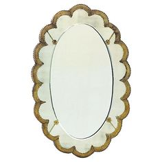 Sweet scallops and an antiqued finish give the Hip Vintage Sweetheart Wall Mirror - x in. This oval wall mirror is graced. Oval Mirror, Mirror Art, Wall Mirrors, Pink Mirror, Fragrant Candles, Mirrors For Sale, Home Decor Mirrors, Wall Decor, Gold Walls