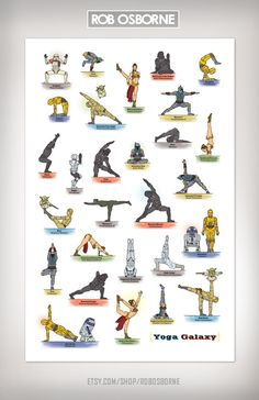 Star Wars GALAXY YOGA Art Print 11x17 by Rob Osborne by RobOsborne, $19.00
