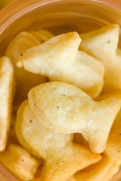 Homemade goldfish... I want to try this one!