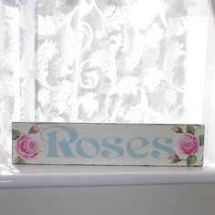 Roses hand painted sign