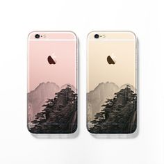Show off your new rose gold iPhone 6s with this mountain landscape clear / transparent case! This is a lovely and unique iPhone 6 / 6s made one at a
