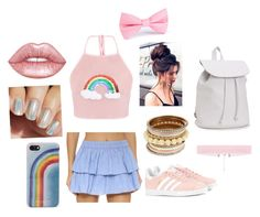 """Rainbow day"" by phee-richards on Polyvore featuring Thayer, adidas Originals, Lime Crime, Marc Jacobs and Aéropostale"