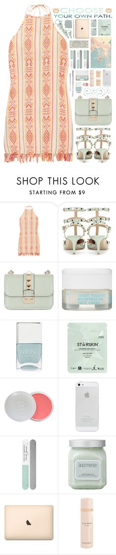 """2181 // A n t l i a"" by arierrefatir ❤ liked on Polyvore featuring Miguelina, Valentino, NYX, Korres, Nails Inc., Starskin, Christian Dior, Deborah Lippmann, Laura Mercier and Shades of Grey by Micah Cohen"