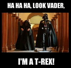 Star Wars T-Rex Hahahahaha 😂 Star Wars Witze, Star Wars Jokes, Starwars, Star Wars Pictures, E Mc2, Dc Memes, The Force Is Strong, Love Stars, Film Serie