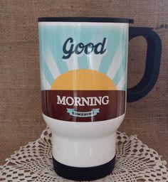 Termoszbögre retró stílusban Good Morning Sunshine, Mugs, Tableware, Dinnerware, Hello Sunshine, Tumblers, Tablewares, Mug, Dishes