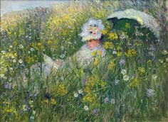 In the Meadow ~ Claude Monet