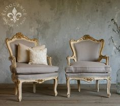 c. 1940's French Style Armchairs. I want everything from this store. Or inspired by this store. These totally look like something my Sitti would love too.