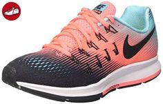 Nike Damen Wmns Air Zoom Pegasus 33 Trainingsschuhe, Mehrfarbig (Black / Black / Lava Glow / Polarized Blue), 37.5 EU - Sneakers für frauen (*Partner-Link)