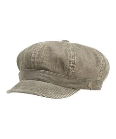Loving this Dark Brown Corduroy Newsboy Cap - Women on #zulily! #zulilyfinds