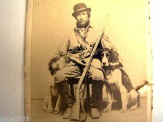 Double Armed, Brace of Dogs, Civil War Calvary Boots, Hunting Horn