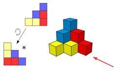 Triángulo de cubos: derecha