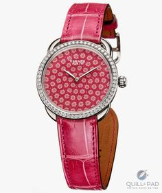 Hermes watches: 1000 glass flowers mark the passing hours on the new Arceau Millefiori Latest Watches, Watches For Men, Women's Watches, Hermes Watch, How To Make Crystals, Hermes Jewelry, Jewellery, High Fashion Men, Art Watch