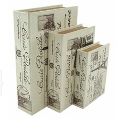 Buy the Aspire Home Accents 6660 White Direct. Shop for the Aspire Home Accents 6660 White Paris Faux Book Boxes (Set of and save. Paris Home Decor, Parisian Decor, White Home Decor, Parisian Bedroom, Decorative Objects, Decorative Accessories, Decorative Boxes, Golden Pages, Book Baskets
