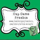 Cup Game Freebie