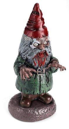 This possessed garden gnome isn't just for Halloween. You'll certainly make an impression of ~some sort~ if you leave it in your yard year-round. It's totally up to you.