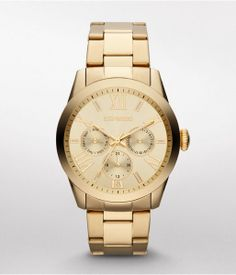Gold. For Work Or Well-dressed Play, A Fine Watch That Offers Reliable, Multi-function Quartz Analog Movement With Sleek, Timeless Style. Its Rich Goldtone Bracelet Works Beautifully On Its Own But Fits In Easily With Bangles, Too. Womens Watches. No Size'