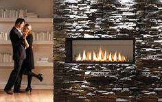 Gas see through fireplace