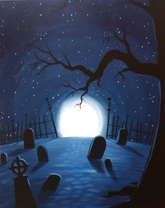 wine and canvas painting ideas Casa Halloween, Theme Halloween, Halloween Rocks, Halloween Painting, Halloween Drawings, Family Halloween Costumes, Halloween Pictures, Vintage Halloween, Halloween Decorations