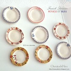 Miniature plates made with decals - could I do this?
