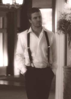 Stephen Amell and my newly discovered suspender fetish...