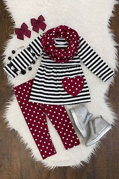 Details about Girls 2 PC Pants Outfit Toddler Baby Kids Clothing Cheetah Capri Boutique Set Girls 3 PC Pants Outfit Toddler Kids Clothing Boutique 3 PC Heart Scarf Set Little Girl Outfits, Little Girl Fashion, Toddler Fashion, Toddler Outfits, Kids Fashion, Baby Clothes Usa, Cheap Baby Clothes, Clothes Shops, Clothes Sale